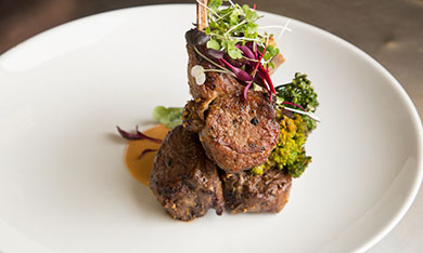 Braised Lamb Chops | Baby Broccoli | Sweet Potato Puree